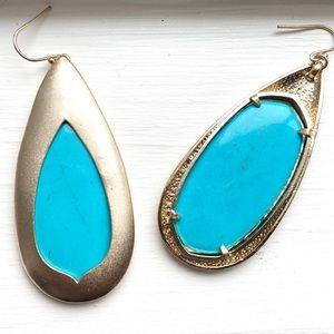 {Kendra Scott} Turquoise Wren Drop Earrings